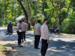 Wilayahnya Menjadi Tempat Persimpangan, Polsek Kediri Maksimalkan Penyekatan Prokes