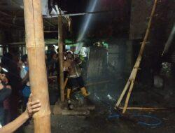 5 Ton Tembakau Ludes Terbakar di Praya Timur Lombok Tengah