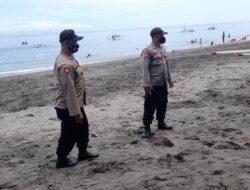 Prioritaskan Prokes dan Keselamatan di Tempat Wisata, Polsek lembar Lakukan Patroli