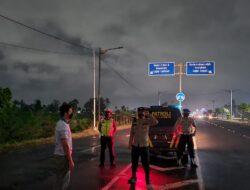 Sasar Jalan By Pass BIL II, Polsek Kediri Memantau Situasi Wilayah
