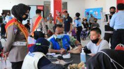 Vaksinasi Presisi Merdeka di Wilkum Polres Lobar, Lampaui Target Hingga 2.221 Dosis